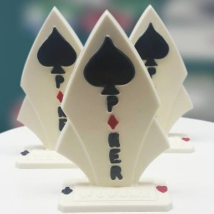 Forma para Chocolate Troféu Poker Forma Simples Ref. 9536 BWB 5unids