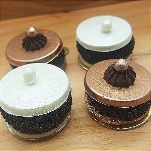 Forma para Chocolate Plaquinha Redonda Lisa 3.5cm x 0.4cm 4g Forma Simples Ref. 9746 BWB 5unids