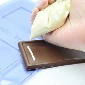 Forma para Chocolate Tablete Liso 40g Forma Simples Ref. 9796 BWB 5unids