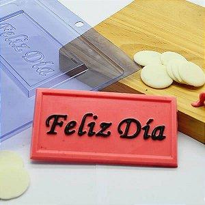 Forma para Chocolate Tablete Feliz Día 40g Forma Simples Ref. 9795 BWB 5unids
