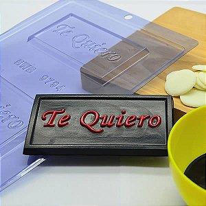 Forma para Chocolate Tablete Te Quiero 40g Forma Simples Ref. 9794 BWB 5unids