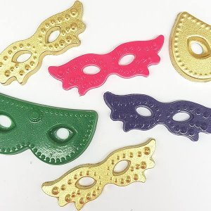 Forma para Chocolate Máscaras de Carnaval Forma Simples Ref. 9698 BWB 5unids