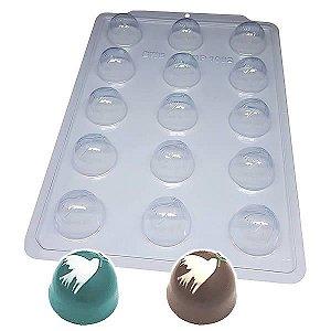 Forma para Chocolate Semiprofissional 1092 Trufa da Paz 35g Ref. 3560 BWB 5unid