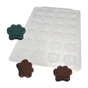 Forma para Chocolate Semiprofissional 9411 Bombom Pata de Cachorro 11g Ref. 3550 BWB 5unid