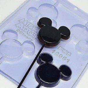 Forma para Chocolate Pirulito Silhueta Mickey 30g Ref. 12051 BWB Licenciada Disney 10unid