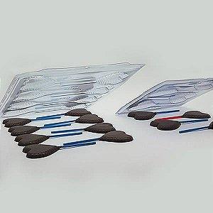 Forma para Chocolate Semiprofissional 263 Pirulito Coração 20g Ref. 3540 BWB 5unid