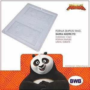 Forma para Chocolate Barra Mestre Po Kung Fu Panda 75g Ref. 11061 BWB Licenciada Universal 10unid