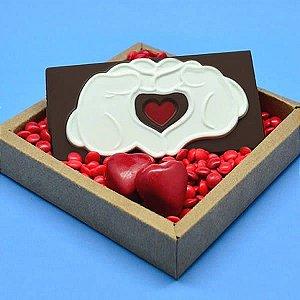 Forma para Chocolate Barra Luva do Mickey 80g Ref. 12035 BWB Licenciada Disney 10unid