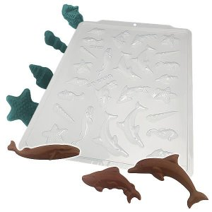 Forma para Chocolate Semiprofissional 9293 Tema Fundo do Mar Ref. 3603 BWB 5unid