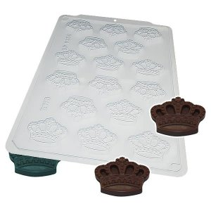 Forma para Chocolate Semiprofissional 9358 Coroa da Rainha 14g Ref. 3547 BWB 5unid