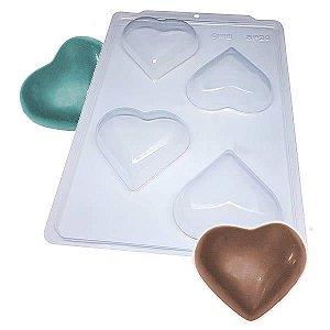 Forma para Chocolate Semiprofissional 20 Coração 200g Ref. 3544 BWB 5unid