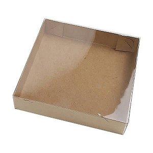 KRP-20 KRAFT (10x10x2 cm) Caixa de Plástico e Papel 10unid