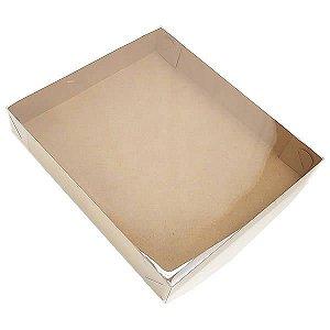 KRP-31 KRAFT (26x23x4 cm) Caixa de Plástico e Papel 10unid