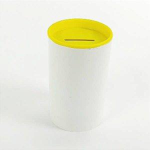Cofrinho de Plástico Amarelo 10unid Festas