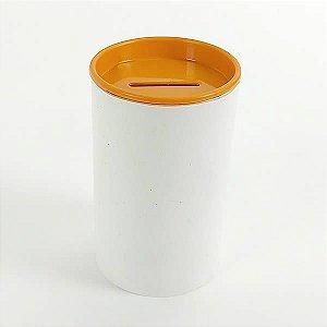 Cofrinho de Plástico Laranja 10unid Festas