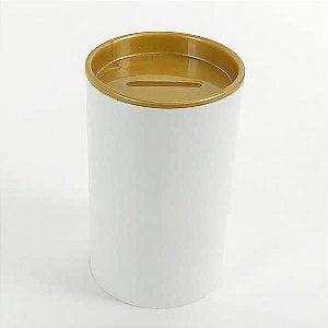 Cofrinho de Plástico Ouro 10unid Festas