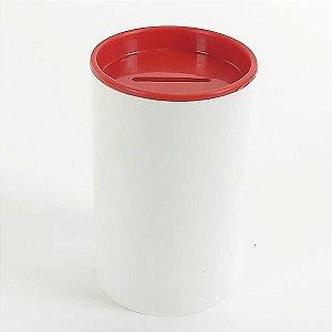 Cofrinho de Plástico Vermelho 10unid Festas