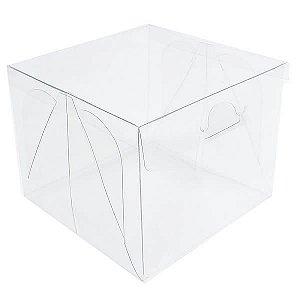 (5pçs) PX-4 (10x10x8 cm) Caixa de Acetato Transparente