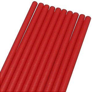 Canudo de Papel Liso Vermelho Ref.9956 BWB 20unids