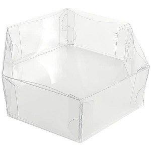 PS-2 (10x10x4 cm) Caixa Sextavada de Plástico Tampa e Fundo 10unid
