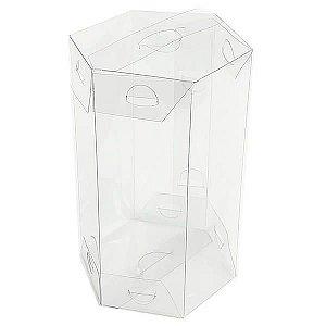 PS-3 (8x8x14 cm) Caixa Sextavada de Plástico 10unid