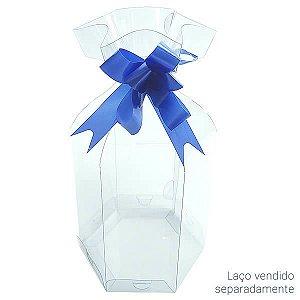 PS-31 (11x11x14 cm) Caixa Sextavada de Plástico Transparente  5unid