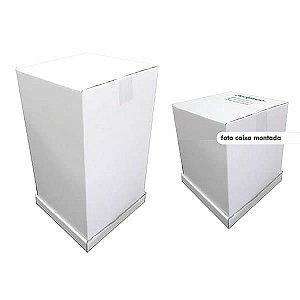 KIT (2pçs) Caixa Alta 30cm e 51cm Caixa de Papelão Reforçado (26x26cm) Embalagem para Bolos