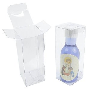 PXGar-1 Embalagem Plástica (3.5x3.5x10 cm) Caixa para Garrafinha Plástica de 50ml com Tampa Caixa 10unid