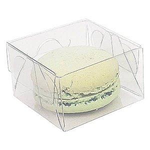 PX-206 Caixa para Macaron Bem Casado (5x5x3) cm 10und Caixa de Acetato Transparente