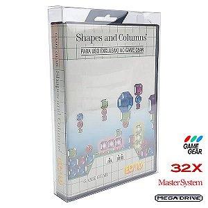 Games-29 (0,20mm) Caixa Protetora para CaixaBox Case com ABA DE PENDURAR Mega Drive, Master System, 32X e Game Gear 10un