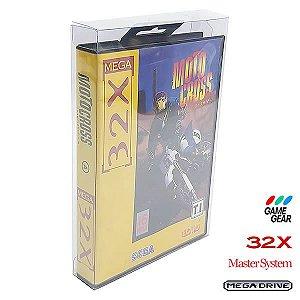 Games-29 (0,30mm) Caixa Protetora para CaixaBox Case com ABA DE PENDURAR Mega Drive, Master System, 32X e Game Gear 10un
