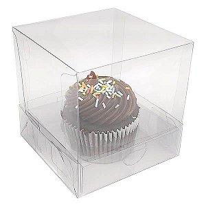 Caixa para 1 Cupcake Grande (7,5x7,5x7,5 cm) KIT20 10unids Caixa de Acetato