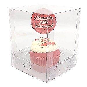 Caixa para 1 Cupcake Grande (10x10x12 cm) KIT24 10unids Caixa de Acetato