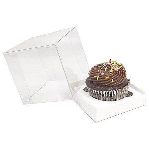 Caixa para 1 Cupcake Grande (8,5x8,5x8,5 cm) KIT11 10unids Caixa de Acetato