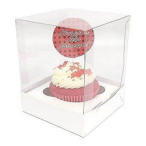 Caixa para 1 Cupcake Grande (10x10x10 cm) KIT13 10unids Caixa de Acetato