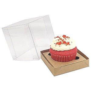Caixa para 1 Cupcake Grande (7,5x7,5x7,5 cm) KIT49 10unids Caixa de Acetato