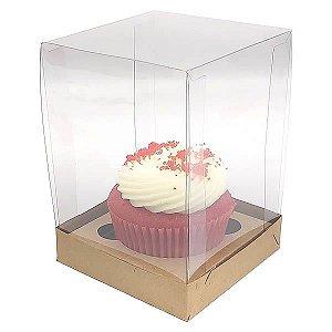 Caixa para 1 Cupcake Grande (8,5x8,5x12 cm) KIT51 10unids Caixa de Acetato