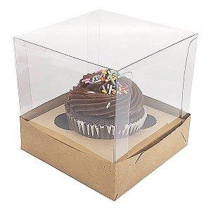 Caixa para 1 Cupcake Grande (10x10x10 cm) KIT52 10unids Caixa de Acetato