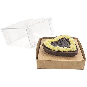 Caixa Coração 200g para Forma 45 BWB (12x12x6 cm) KIT26 Embalagem Ovo de Colher 10unids