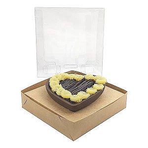 Caixa Coração 200g para Forma 45 BWB (12x12x12 cm) KIT28 Embalagem Ovo de Colher 10unids