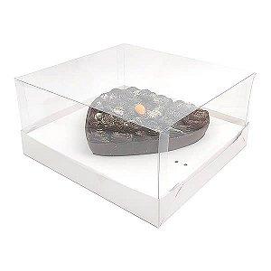Caixa Coração 500g para Forma 46 BWB (19x17,5x9 cm) KIT58 Embalagem Ovo de Colher 10unids