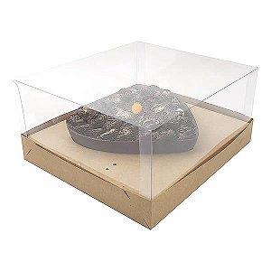Caixa Coração 500g para Forma 46 BWB (19x17,5x9 cm) KIT59 Embalagem Ovo de Colher 10unids
