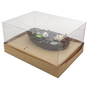 Caixa Ovo de Colher Páscoa 250g (18x14x9 cm) KIT31 Embalagem Ovo de Colher 10unids