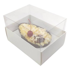 KIT Caixa Ovo de Colher Páscoa 350g (16x11,5x10  cm) Caixa e Berço KIT38 Embalagem Ovo de Páscoa 10unids