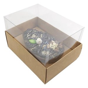 KIT Caixa Ovo de Colher Páscoa 350g (16x11,5x10  cm) Caixa e Berço KIT39 Embalagem Ovo de Páscoa 10unids