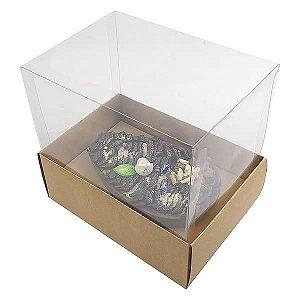 KIT Caixa Ovo de Colher Páscoa 350g (16x11,5x15  cm) Caixa e Berço KIT41 Embalagem Ovo de Colher 10unids