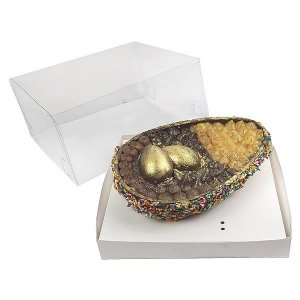 Caixa Ovo de Colher Páscoa 500g (19x17,5x9 cm) KIT42 Embalagem Ovo de Colher 10unids