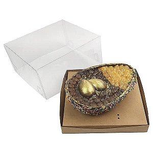 Caixa Ovo de Colher Páscoa 500g (19x17,5x9 cm) KIT43 Embalagem Ovo de Colher 10unids