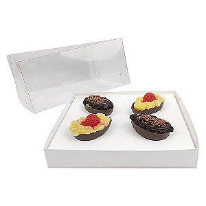 Caixa Ovo de Páscoa 50g (19x17,5x9 cm) KIT64 Embalagem Ovo de Colher 10unids
