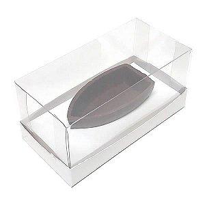 Caixa para Barca P Chocolate (12,8x6,5x6 cm) KIT86 10unids Caixa de Acetato